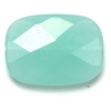 Rectangle Facetted Beads 18x25mm Glass Amazonite